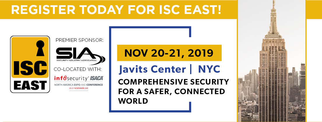 Jerry will be a featured speaker at ISC East - November 20-21, 2019