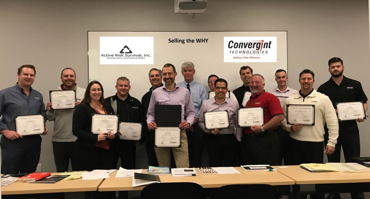 Active Risk Survival, Inc. provides training for the Convergint Technologies LA Team.