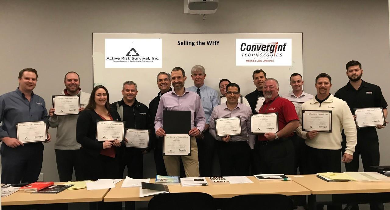 Active Risk Survival, Inc. provides training for the Convergint Technologies LA Team.